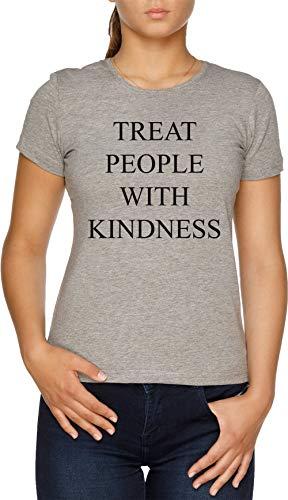 Treat People with Kindness Damen T-Shirt Grau