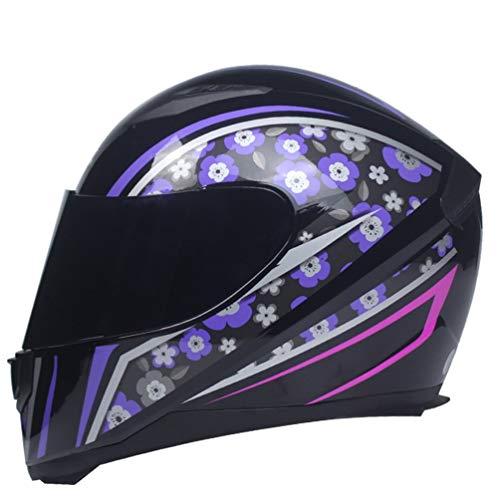 XIGUAK Uomini Donne Pieno Viso Helme off Road Motocross Protezione UV Professional Adulto Casco Traspirante Comfort Tessuto Soft Tide Leggero Racing Tappi di Protezione 56-63cm