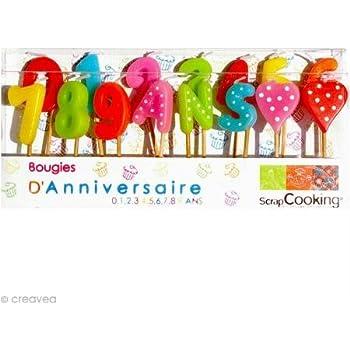 Amscan Doré Finition métallique Celebration Bougies # 5