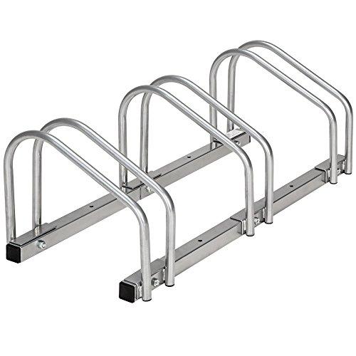 TecTake Rastrelliera portabici per biciclette | metallo rivestito - modelli differenti - (per 3 biciclette | 402377)