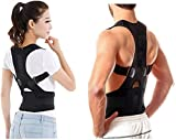 WOQZILINE Unisex Magnetic Back Brace Posture Corrector Therapy Shoulder Belt for Lower