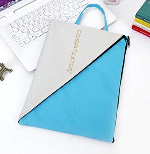 Datei-Zwischenablage 3 Stücke Einfachen Stil Oxfore Tuch A4 Zip Tasche Dokument Brieftaschen (Blau) Durch Heelinna - Stil Ein Stück Tuch