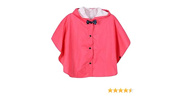 2-3Y Bleu S hibote Princesse Bow enfants Poncho /épais Nylon enfants Raincoat