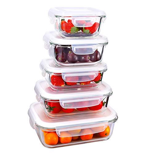 Umi. Essentials Aufbewahrungsbehälter aus Glas, mit Deckel, 5-teilig