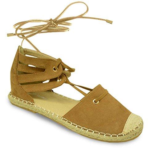 Cucu Fashion , Bride de cheville femme Marron - Camel