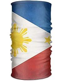 Uosliks Unisex Stylish 4 Flag of The Philippines Quick Dry Microfiber  Headwear Outdoor Magic Bandana Neck 71f2b297241a