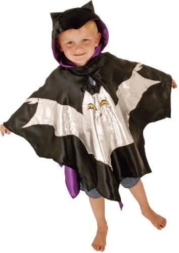 Fledermaus Kostüm Cape - Karneval Kostüm für Kinder 3-8 Jahre alt - Slimy (Kostüme Alt 3 Jahre Halloween)