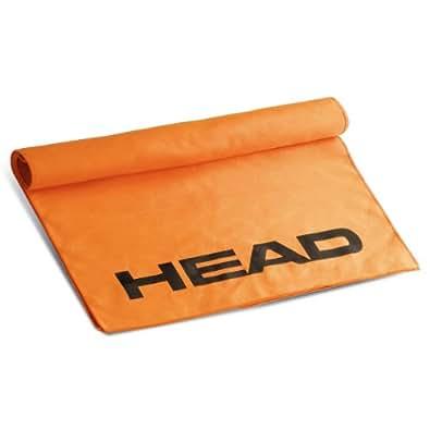 Head Swim Towel Microfiber–Asciugamano Unisex, colore: arancione
