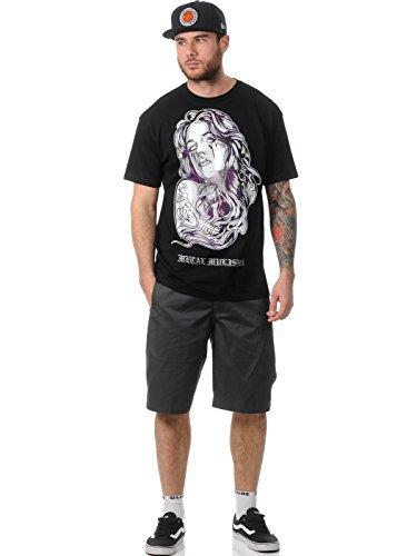 Metal Mulisha T-Shirt Herren Galactic schwarz - fällt normal aus Schwarz