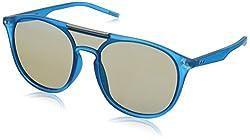 Polaroid Mirrored Square Unisex Sunglasses - (PLD 6023/S 15M 99JY|99|Blue Color Lens)