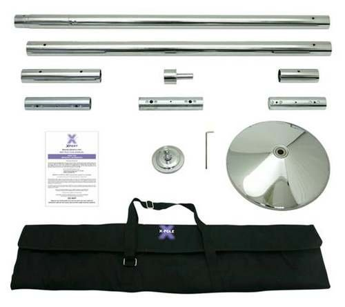 X Pole XPert 45mm Chrome – Static And Spinning – Professional Pole Dancing Kit
