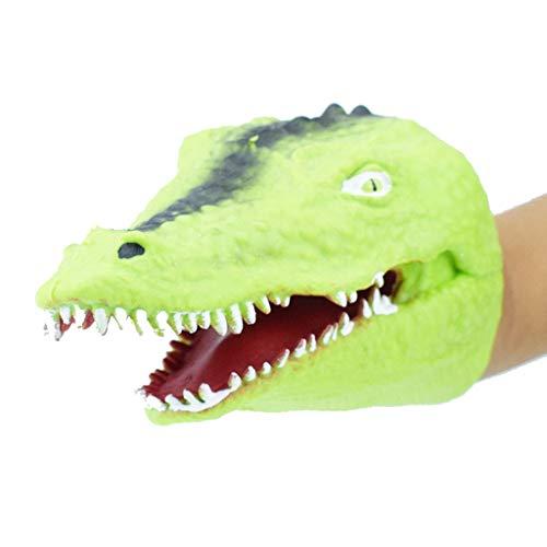 htfrgeds Soft Rubber Realistic Alligator Hand Puppet Fun Stuff Hundespielzeug, widerstandsfähig 2 Stück Gummi Alligator (Hundespielzeug Stuff Tiere)