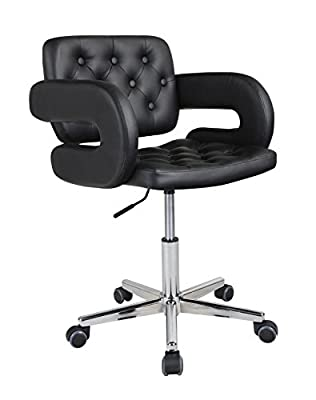 HNNHOME Quality Designer Swivel Faix Leather Office Furnitue Computer Desk Office Chair