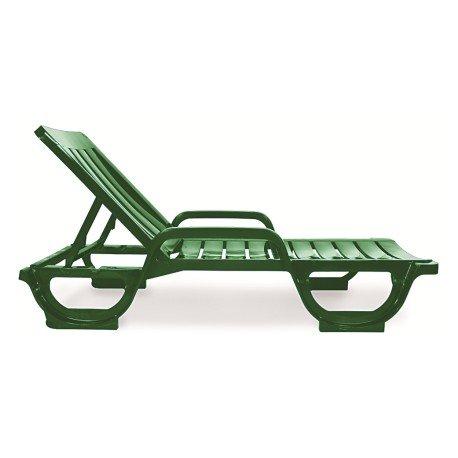 Chaise avec accoudoirs Empilable stz1040002 piscine Polypropylène VERDE OSCURO 1145