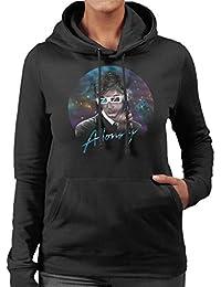 Cloud City 7 Doctor Who David Tennant Allons Y Retro Wave Women's Hooded Sweatshirt