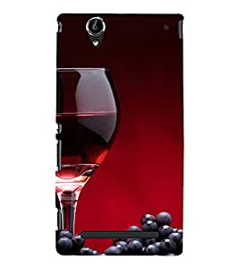 FUSON Red Wine And Grapes 3D Hard Polycarbonate Designer Back Case Cover for Sony Xperia T2 Ultra :: Sony Xperia T2 Ultra Dual SIM D5322 :: Sony Xperia T2 Ultra XM50h