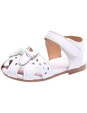 PAOLIAN Verano Zapatos para Niñas Zapatos de Niñito Pajarita Hueco Antideslizante Breathable Casual Princesa Calzado...