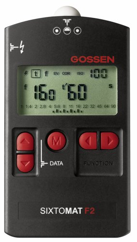 Gossen-GO h264a Sixtomat F2Belichtungsmesser F/Flash, Ambient, CINE und reflektierende Metering (schwarz)