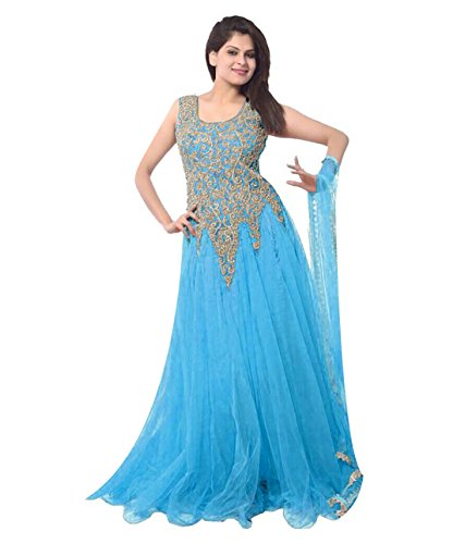 KFHub Women's New Low Price Below 500 rupees Collection Anarkali Gowns Sky...