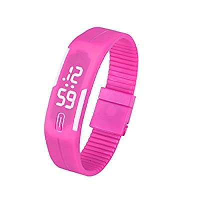 Sannysis Gummi LED Datum Sports Armband-Digital-Armbanduhr