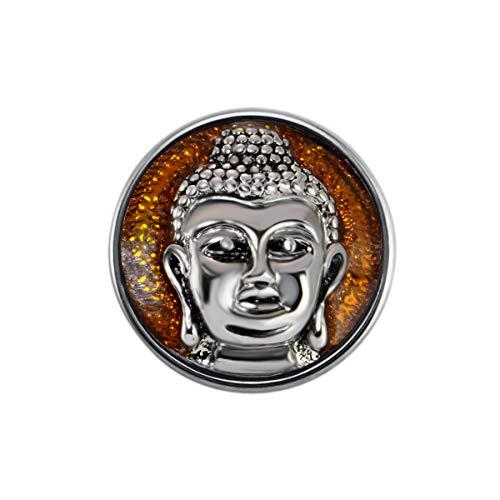 Quiges Damen Click Button 18mm Chunk Shiva Braune Chunk für Druckknopf Zubehör