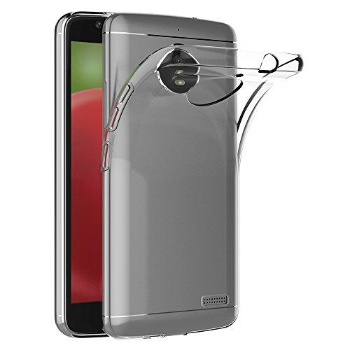 AICEK Motorola Moto E4 Hülle, Transparent Silikon Schutzhülle für Moto E4 Case Crystal Clear Durchsichtige TPU Bumper Lenovo Moto E4 Handyhülle