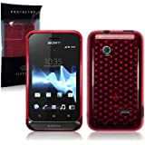 Sony Xperia Tipo TPU Gel Skin Case / Cover - Red