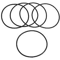 5 Stk 70 mmx 2,4 mm schwarz Silikon O Ringe Öl Dichtungen Dichtungen