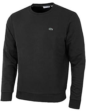 Lacoste SH1924 Klasischer Herren Pullover, Sweatshirt, Rundhals, Regular Fit, 100% Baumwolle