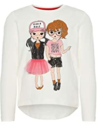 NAME IT Nmfolgirls LS Top, Camisa Manga Larga para Niñas