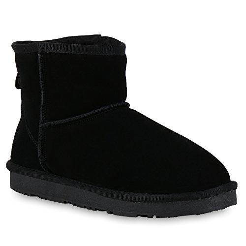 Damen Stiefeletten Leder Schlupfstiefel Boots Kostüm skostüm Indianer Fransen Squaw Pocahontas Schuhe 107895 Schwarz 37 Flandell