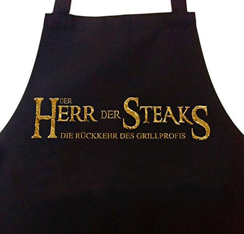 41VDn2DWN4L - Grillschürze Kochschürze Der Herr der Steaks