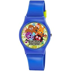 Moshi Monsters Children's Digital Watch with Multicolour Dial Digital Display and Blue PU Strap MM018