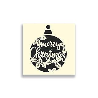 Apex Laser Ltd Merry Christmas Bauble Stencil - 12x12 Inches Airbrush, Sponging, Aerosol, Pastels, Snowspray