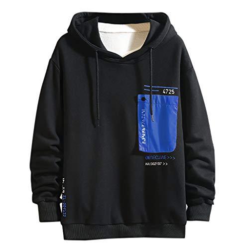 Fenverk Herren Jjeholmen Sweat Hood Noos Sweatjacke Hoodie Kapuzenpullover Sweatshirt Pullover Streetwear, Sweater Sportlicher Kapuzen-Pullover, Pulli FüR MäNner(A Blau,M)
