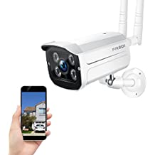 FREDI 720P WiFi Wireless IP Security Cámara Bala(resistente al agua) Monitor de Seguridad