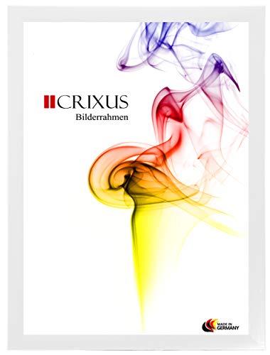 Crixus35 Bilderrahmen für 100 x 90 cm Bilder, Farbe: Weiß gemasert, Holzrahmen MDF Maßanfertigung...