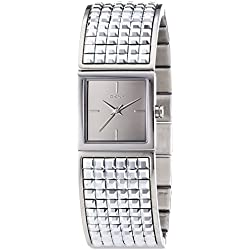 DKNY Women's Quartz Watch with White Dial Analogue Display and Silver Stainless Steel NY2230