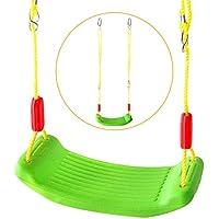 Yoptote Columpio Jardin Infantiles Juguete Swing Set Balancin Jardin Regalos Exterior y Interior para Niños Niñas 3 4 5 Años+ (Verde)
