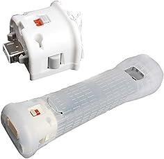 Althemax® Motion Plus Sensor-Adapter + Gel-Silikon-Haut für Wii Remote Controller Weiß