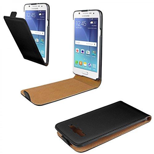 eFabrik Case für Samsung Galaxy J5 (2015) Schutz Tasche Hülle Cover Flip Case Etui Schutzhülle Tasche Hülle schwarz