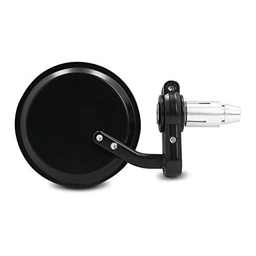 Lenkerendenspiegel Rund Aprilia RS4 125 (Paar) schwarz