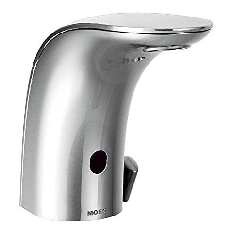 Moen 8554AC Mpower Sensor Operated Single Mount Above Deck Lavatory High Arc Ac Powered Faucet by Moen