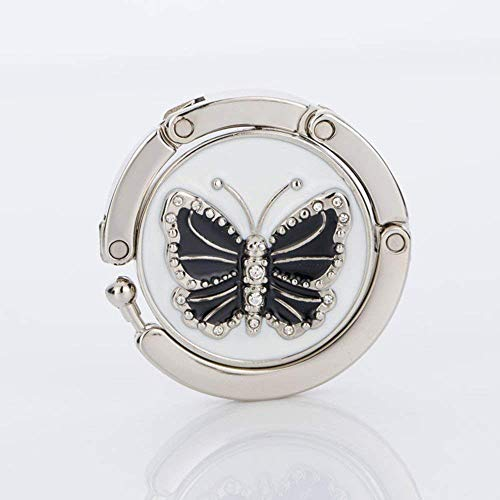 Butterfly-tische-stühle (KEISL Faltbarer Geldbeutelhaken für Tischtaschenaufhänger Kollektion - Klappbarer Handtaschen-Tischaufhänger, Rose, 2PCS Butterfly)