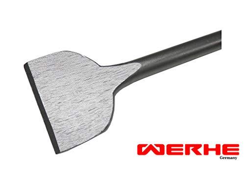 WERHE Profi SDS Plus Spatmeißel Flachmeißel 75 x 250 mm Breitmeißel Spat Flach Meißel -