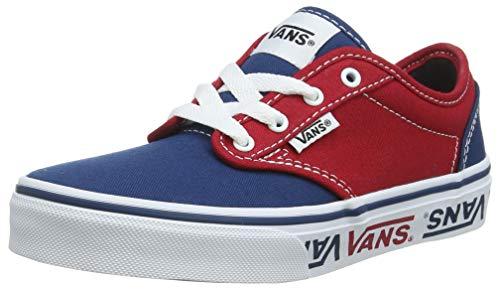 Vans Jungen Atwood Canvas Classic Sneaker, Mehrfarbig (Sidewall Logo) Sailor Blue/Red Veh), 32 EU