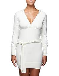 724faabee5a6 SENSI  Vestito Donna Abito Manica Lunga Lana Viscosa Senza Cuciture  Seamless Made in Italy