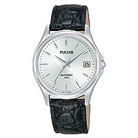 Pulsar analoog kwarts horloge met lederen armband PXHA71X1