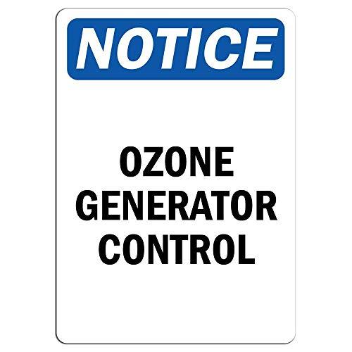YASMINE HANCOCK Notice Sign Ozone Generator Control Sign Metal Plaque Tin Sign Poster Metall Plaque Zinn Logo Poster Wand Kunst Cafe Club Bar Wohnkultur Logo Generator