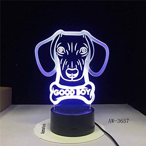 CNYDD Nachtlicht Basset Hound Mops Hündchen Doggy Patrol 3D Led Nachtlicht USB Lampe 7 Farbwechsel Junge Kind Mädchen Rc Geschenk Spielzeug -